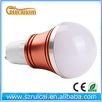 AC85-265V GU10 red aluminum shell 3w led bulb lamp