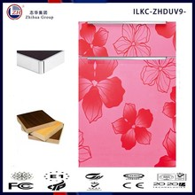 fancy red flower design kitchen cabinet door with MDF board