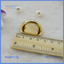 manufacture zinc alloy accessories for purse metal 3/4 inch inner arch bridge wholesale