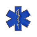personalizado 30mm estrella de la vida pin nursring paramedic ambulancias