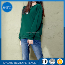 young girl long line green color no pockets hoodies