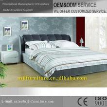 Nuevo mejor venta de cuero suave king size cama de la pared