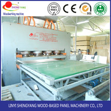Hydraulic hot press machine mdf lamination machine with low price