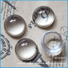 Glass Transparent Dome Cabochon Cameo Round Magnify Base Cover VI