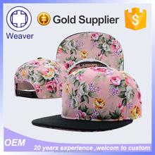Custom Blank Coton Twill Hawaii Floral Printing Snapback Cap For Men Hat
