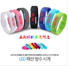 2015 newest wholesale colorful quartz&led watch promotion led watch with digital light