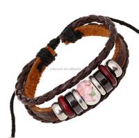 hand made Leather bracelet women bracelet fashion charm bracelet Ceramic Chinese style bracelet
