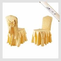 CC3 High Quality Custom Heated Cheap Gold Wedding Chair Covers