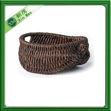 new rustic patina oval corn husk basket with patina stain