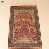 100% art silk carpet 2x3ft handmade plain carpet or handmade persian rugs