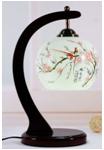 Chinese antique reproduction porcelain desk lamp