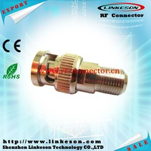 Hot sale BNC male to F female coaxial adapter