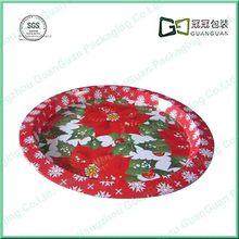 Christmas Design Round Metal Tray wholesale