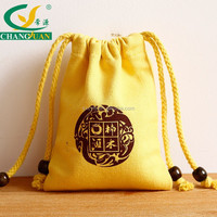 delicate canvas sling bag, drawstring cotton bag