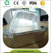FDA F4305 Rectangular Alu Frozen Food Packaging