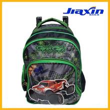 fashion cars school backpack boys travel trolley bag