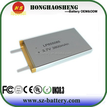 top sale best price rechargeable 855085 li-polymer battery 3.7v 3800mah battery for electronic toys