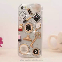 Cheap But Luxury Style Design diamond transparent hard pc tpu case for iPhone 5 Back Cover Protective Shell Skin