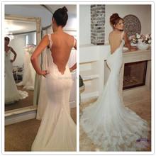 Latest Hand Work Design In Dress for Wedding Backless Satin Bridal Gown V-Neck Dress for Wedding