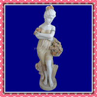 Natural Marble Craved Stone Statue,Female Garden Statues