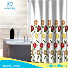 Waterproof Polyester Flower Bath Curtain Hot Products