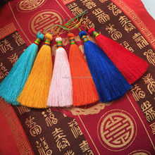 Handmade viscose materials Tassel fringe for decoration jewelry making pendant key chain waistbelt