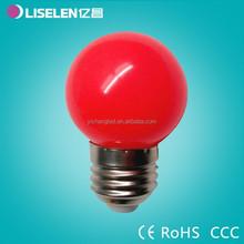 Free Sample G45 colorful for Christmas colorful PC led bulb e27/b22