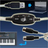 USB to MIDI Keyboard Music Converter Cable
