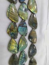 Fire shining high quality labradorite triangle natural gemstone for design