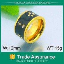 wholesale gold plated titanium rings without stones ring for man