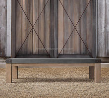 vintage outdoor garden wood waterproof console table with zinc top