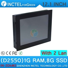 Industrial embedded touch screen panel 2mm thin all in one Tablet PC with 12 inch 2 1000M Nics 2COM 1G RAM 8G SSD