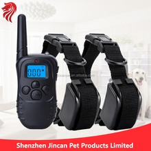 For two dogs, 300 MetersElectronic Dog Barking Collar training collar, 100 levels shock + vibration functions