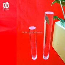 Acrílico bar, acrílico sólido tubo de plástico transparente varilla
