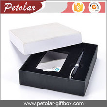 white&black special paper packaging box for business cards pen gift box