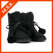 Hot selling winter buckle fastener sweet women's short boots