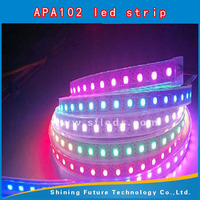 APA102 flexible and trimmable led strip light,72LEDs/m with 72pcs WS2801 IC built-in the 5050 SMD RGB LED Chip;DC5V,White PCB