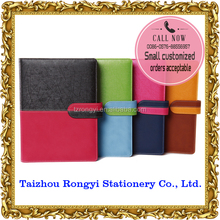 2015 fancy 6- ring binder organizer with magnetic closure