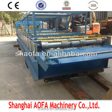 color steel archaized glazed roof tile roll forming machine