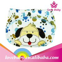 Wholesale funny dog printed newborn baby potty training pants