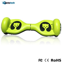 Newest smart self balancing electric scooter 4.5 inch children shilly-car electric drift car two wheel for kids funny bear