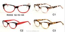 Signora occhiali, pronto magazzino montature in acetato produzione in shenzhen