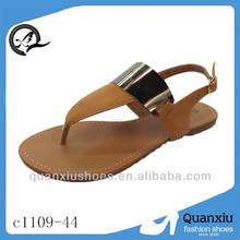 latest unique lady flat sandal pvc shoes flat model sandal 2013
