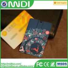 white credit card shaped usb drive