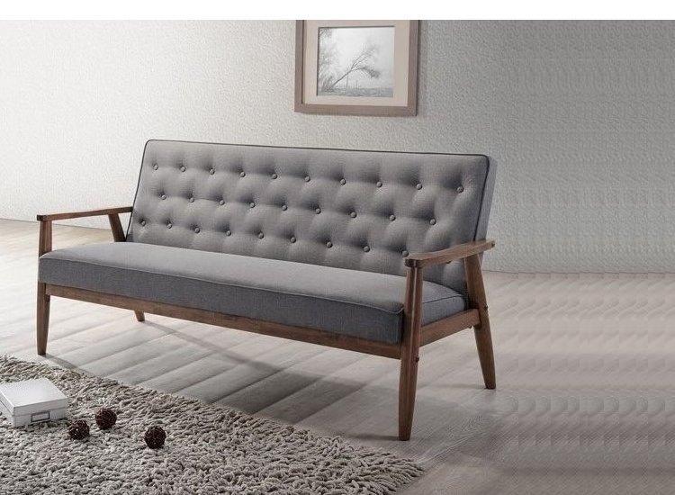 Taste Tufting Mitte Des Jahrhunderts Retro Moderne Stoff Gepolstert Holz  Sessel, Grau Wohnzimmer Möbel