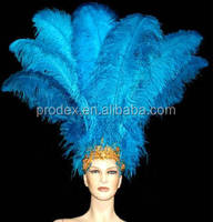 Feather headpiece carnival Samba costumes ostrich feathers