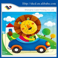 educational paper board game/paper toy jigsaw puzzle
