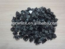 crushed black glass rock