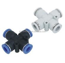 Pneumatic Components-PZ Cross Joint Pipe Fitting PZ4~PZ12