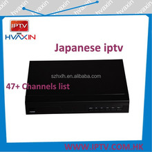 iptv set top box oem japanese tv box with 52 hd live japan channels ,hd satellite receiver with osn iptv channels iptv turkish